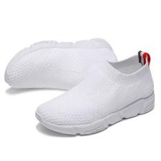 Toko 2017 Wanita S Casual Slip Ons Pria Musim Panas Mesh Flats Untuk Wanita Loafer Sepatu Kasual Nyaman Solid Breathable Outdoor Berjalan Wanita Lazy Sepatu Putih Intl Yang Bisa Kredit