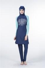 2018 Baru Wanita 'Full Cakupan Sederhana Muslim Baju Renang Baju Renang Islami Muslim Jilbab Swimsuits Muslim Mandi Setelan-Internasional