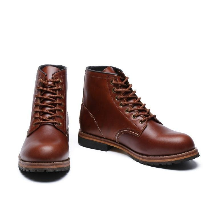 2018 New Redwings Boots For Men's Working Shoes Red Wing Hight Cut Sneakers Size 49-44 (Brown) - intl