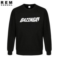 2018 Baru Sheldon Cooper's Bazinga Yang BIGBANG Kasual Katun Leonard GEEK Nerdy Lengan Panjang Hoodies Sweatshirt Black 001- INTL