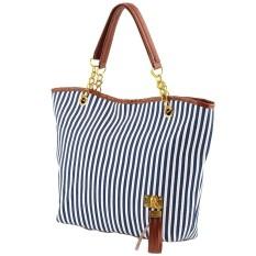 Harga 2018 Gaya Baru Desain Terbaru Wanita Stripe Zipper Hobo Tote Shoulder Dompet Satchel Fashion Casing Casing Intl Yg Bagus