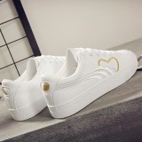 2018 Spring New Wild White Shoes Female Students Casual Sports Shoes Korean Embroidery Fashion Sneakers Intl Terbaru
