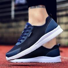2018 Musim Semi & Musim Panas Modis Baru Gaya Santai Olahraga Bernapas Nyaman Sepatu Ukuran Besar Sepatu Jual Biru Tua -Internasional