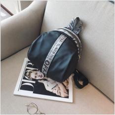 2018 tas liburan nilon baru paket perjalanan khaki pita ransel berkapasitas besar