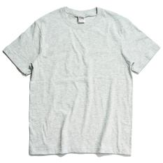 210G Warna Polos Dasar Berat Tebal Baju Dalaman Kaus (Putih Abu-abu)
