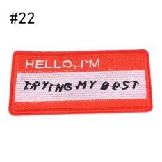 22 Gaya Patch Bordir Besi Di Bordiran Patch untuk Pakaian Tas Pakaian DIY Aksesoris Lebar 9.1 Cm Tinggi 6.4 Cm -Intl