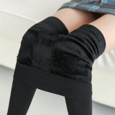 Harga 230G Tambah Beludru Injak Kaki Hangat Celana Legging Hitam Baju Wanita Celana Wanita Original