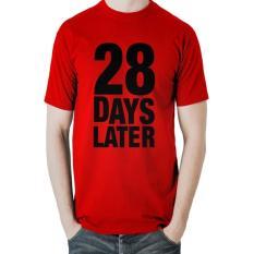 Review 28 Days Later Pria T Shirt Merah Jawa Barat