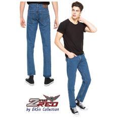 2Nd RED Celana Jeans Pria Basic Denim Mid Blue-Eksis Collection 124191