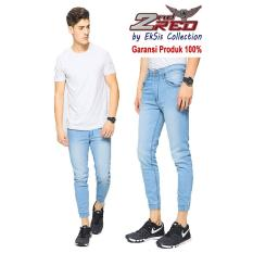 2Nd Red Celana Jogger Jeans Premium Biru Muda Eksis Collection 112607 Promo Beli 1 Gratis 1