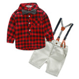 Promo 2 Buah Kotak Denim Tali Ikat Celana With T Shirt Nya Merah Vakind