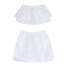 Top 10 2 Pcs Musim Panas Bayi Bayi Gadis Renda Princess Rok Atasan Pakaian Set Putih Intl Online