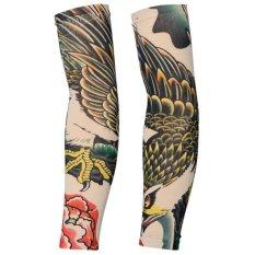 2 Pcs Tattoo Lengan Panjang Lengan Tato Palsu Tabir Surya Lengan (Tipe 2)-Intl