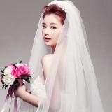 Spesifikasi 2T Cathedral Bridal Elbow Length Cut Edge Wedding Veil Comb White Intl Intl Paling Bagus