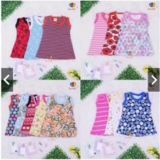 3 PCS Baju Kaos Anak Perempuan Aneka Motif 0-24 bulan
