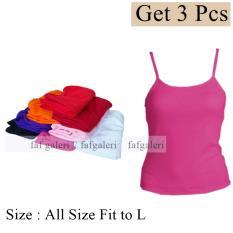 Ulasan Mengenai 3 Pcs Baju Tank Top Wanita Bahan Kaos All Size Fit To L