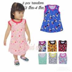 3 pcs daster anak perempuan random dari edo Inayah fashion aneka motif (3 bulan-4 tahun)