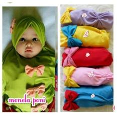 3 Pcs Jilbab anak/baby/kids monela poni yang lucu unyu-unyu