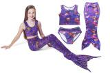 Toko 3 Pieces Set Mermaid 110 140 Cm Tinggi Girls B*K*N* Swimsuits Warna Ungu Intl Mikanoni Online