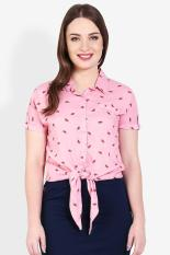 3 Second Ladies Shirt Pink Diskon discount murah bazaar baju celana fashion brand branded