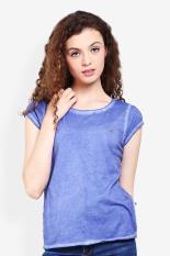 3 Second Ladies Tshirt Blue Diskon discount murah bazaar baju celana fashion brand branded
