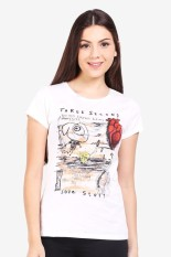 3 Second Ladies Tshirt Cream Diskon discount murah bazaar baju celana fashion brand branded
