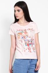 3 Second Ladies Tshirt Pink Diskon discount murah bazaar baju celana fashion brand branded