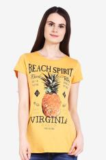 3 Second Ladies Tshirt Yellow Diskon discount murah bazaar baju celana fashion brand branded