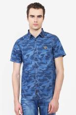 3 SECOND MEN SHIRT BLUE Diskon discount murah bazaar baju celana fashion brand branded