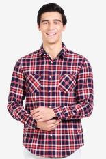 3 Second Men Shirt Red Diskon discount murah bazaar baju celana fashion brand branded