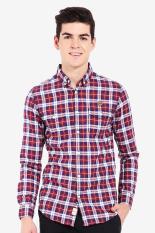 3second  Men Clothing Shirts Casual Shirts  Pria Pakaian Kemeja Kasual Shirts Multicolor Kombinasi Diskon discount murah bazaar baju celana fashion brand branded