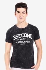 3 Second Men Tshirt Black Diskon discount murah bazaar baju celana fashion brand branded