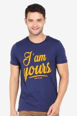 3 Second Men Tshirt Blue Diskon discount murah bazaar baju celana fashion brand branded