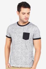 3 Second Men Tshirt Grey Diskon discount murah bazaar baju celana fashion brand branded