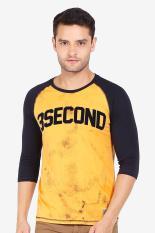 3 Second Men Tshirt Orange Diskon discount murah bazaar baju celana fashion brand branded