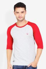 3 Second Men Tshirt Red Diskon discount murah bazaar baju celana fashion brand branded