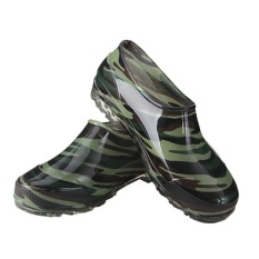 321 Low Rain Boots. Dapur Air Skid Sepatu. Kamuflase Sepatu. Cuci Sepatu Rendah Emas-Intl