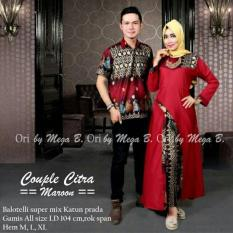 TERMURAH - BATIK COUPLE  CITRA MARUN