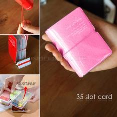 35 Slot PREMIUM Card Wallet/Dompet Kartu ATM/credit card OR 91-01 - PINK