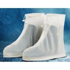 35 ~ 46 Ukuran Reusable Rainproof Sepatu Cover Wanita/pria/anak-anak Penutup Sepatu Tahan Air Sepatu Bot Hujan Siklus Flat Slip -tahan Overshoes-Intl