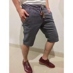 Harga 369 Celana Pendek Casual Pria Bahan Jeans Tuil Abu Yang Murah