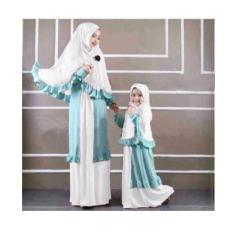 369 Couple Hijab Syari Henz Mom & Kid Putih Dengan Pashmina (No Bros)