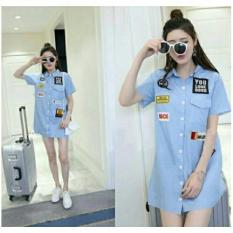 369 Mini Look Dress Biru Muda