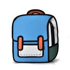 Harga 3D Jump Style 2D Menggambar Dari Bagan Kartun Shoulder Bag Backpack Komik Bookbag Intl Branded