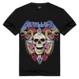 Jual 3D Men S Pure Cotton T Shirt Metallica Skeleton Dan Ular Printing Satu Set