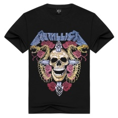Jual 3D Men S Pure Cotton T Shirt Metallica Skeleton Dan Ular Printing Di Hong Kong Sar Tiongkok