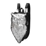 Diskon 3D New Shell Owl Backpack Sch**l Bag Stripes Canvas Backpack Schoolbags Intl