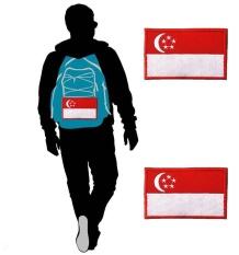 3D Jahit Kerajinan Singapura Singapore Flag Bordir Taktis Velcro Tempelan Semangat Juang Seragam Militer Armband untuk Ransel Topi T Shirt CELANA- INTL