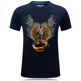Beli 3D Tiga Dimensi Ukuran Besar Laki Laki T Shirt Elang Cincin Biru Tua Elang Cincin Biru Tua Murah