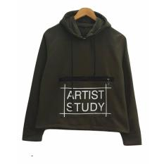 Katalog 3K Artist Study Sweater Fleece Hijau Army 3K Fashion Terbaru